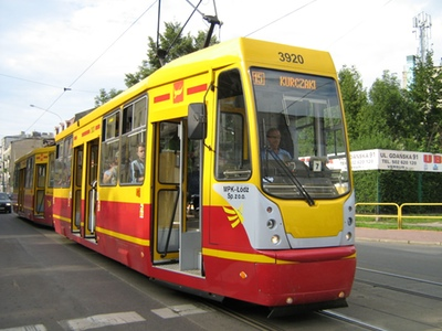 Tram in Lodz. (Photograph: Igal Koshevoy)