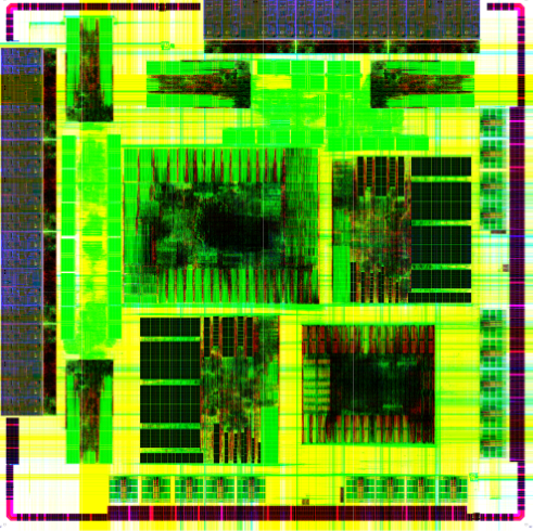 Chip plot of Dot Hill's OVM-verified ASIC (Source: Dot Hill Systems)