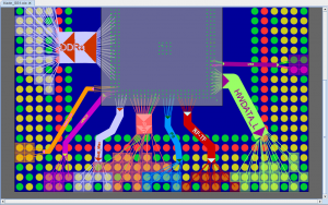 Use of bundles to group pins on a package interface to the PCB