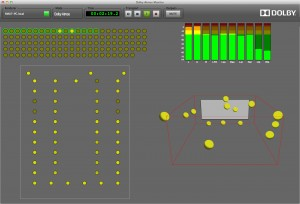 Sound mixers can use visual tools to determine the playback position of each audio object.