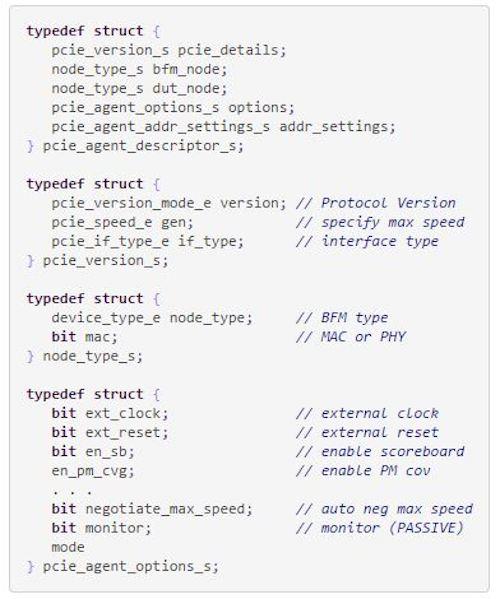 Figure 2. Code snippet (a) for 'struct' descriptor (Mentor Graphics)