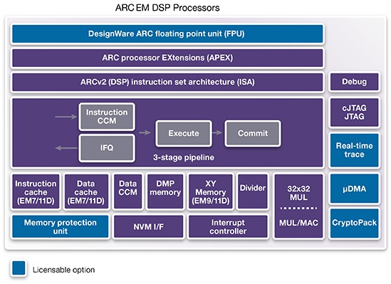 ARC EMxD block diagram (Source: Synopsys)