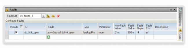 Creating the 'dc_link_open' fault in SaberRD (Source: Synopsys