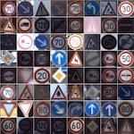 Road signs used to train IDSIA neural network