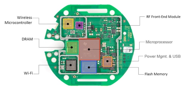 Figure 1. Populating the IoT PCB for a Nest thermostat (Nest)