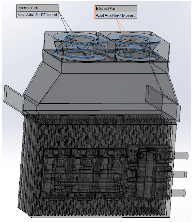 Figure 3. Enclosure fan (Mentor/E-Cooling)