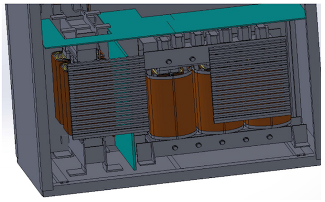 Figure 4. Lower portion of the enclosure (Mentor/E-Cooling)