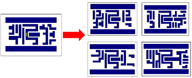 Figure 3: The context of the original pattern is changed to produce multiple variations of the pattern.