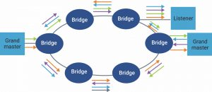 Multiple grand masters transmitting two copies using separate paths (Source: Synopsys)