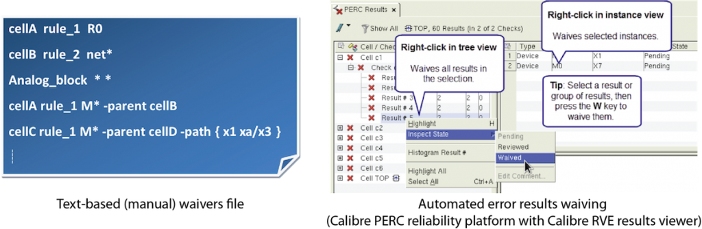 Figure 1. Waivers can be defined manually in a text-based file, or through automated selection (Mentor - click to enlarge)
