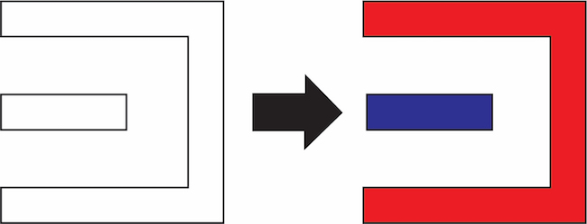 Figure 3: Decomposition (denoted by coloring) in DP layouts (Mentor)
