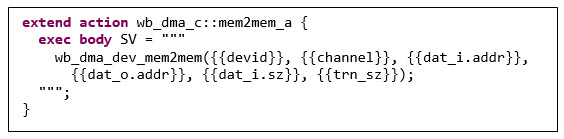 Figure 6. Connecting the Portable Stimulus to SystemVerilog (Mentor)