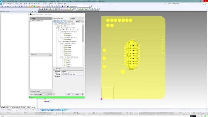 Figure 3. ECAD collaboration preview of MCAD data (Mentor)