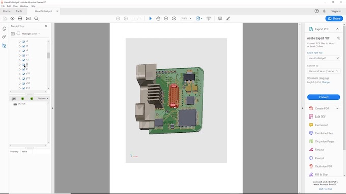 Figure 7. 3D PDF from PADS Professional (Mentor)
