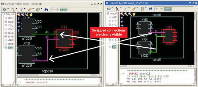 Highlights in internal RVE schematic viewers help visualize the discrepancy