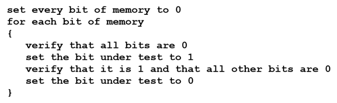 embedded self test code fragment 1
