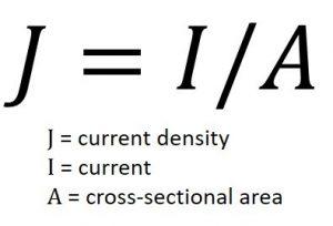 Figure 2. Current density formula (Mentor)