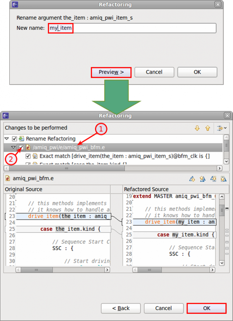 Figure 9. The IDE can accurately rename an entity (AMIQ EDA)