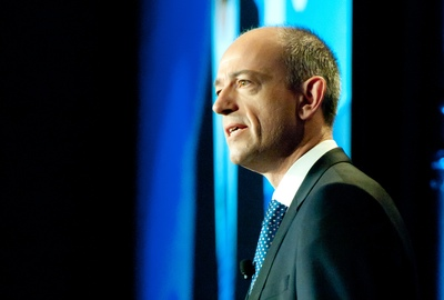 ARM CEO Simon Segars during his keynote at TechCon 2013