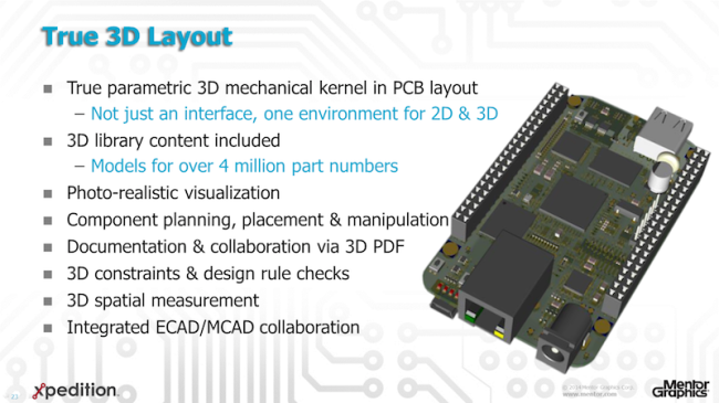 Xpedition 2D/3D layout overview (Mentor Graphics)