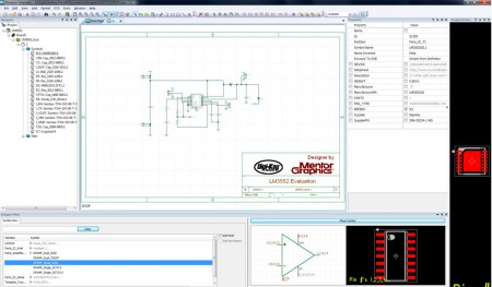 Screenshot from Designer Schematic (Source: Mentor/Digi-Key)