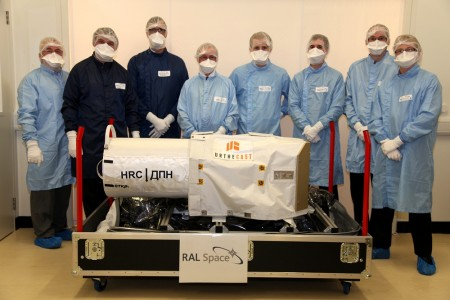 The RAL engineering team with the Urthecast camera module