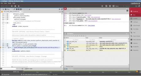 Screenshot of Cadence's Indago debugger