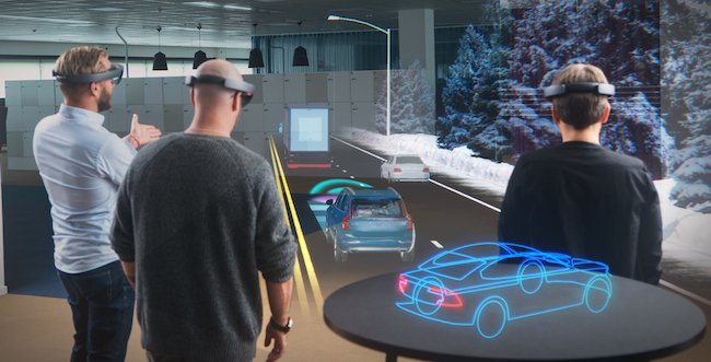 Microsoft has focused HoloLens on work with enterprise partners such as Volvo (Microsoft).
