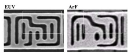 Comparison of 7nm cells imaged by Samsungusing EUV and 193nm lithography