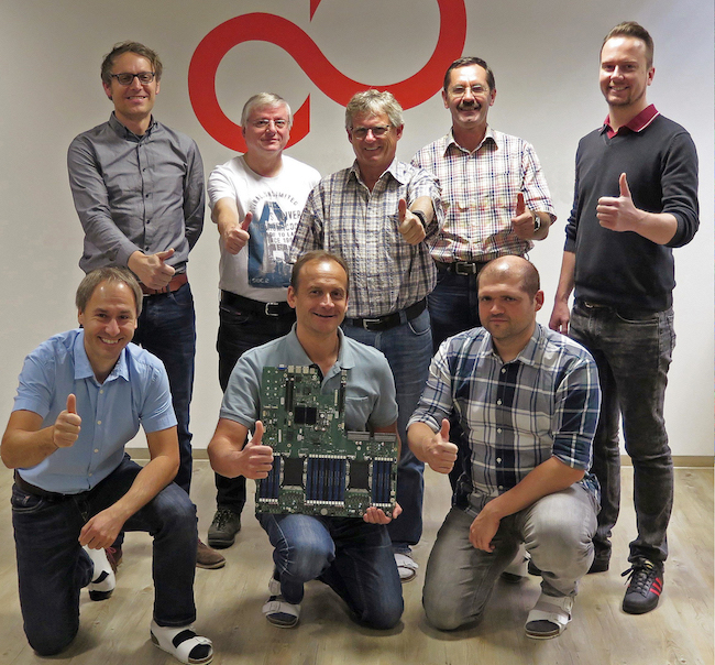 The winning TLA team from Fujitsu Augsburg