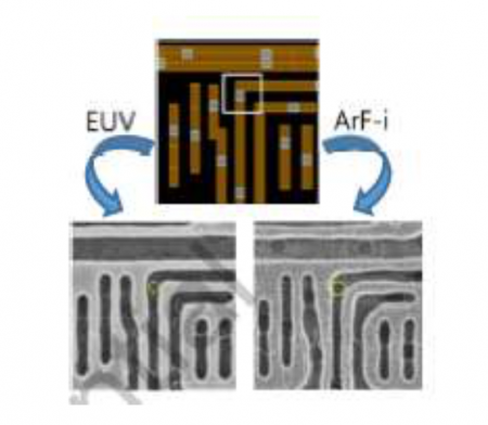 Comparison of EUV and immersion lithography fidelity on 7nm Samsung process