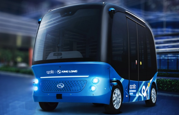 The Apollo Minibus uses Baidu's autonomous driving framework (Baidu)