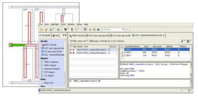 Results - Design Reliability - Calibre PERC Calibre DESIGNrev Calibre RVE